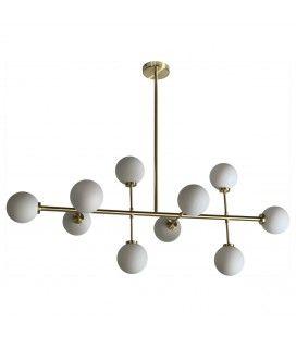 Suspension dorée dix globes Edmond -