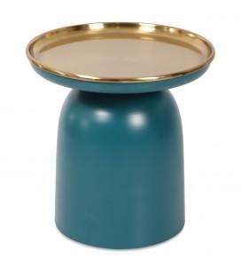 Bout de canapé bleu -