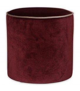 Tabouret Gabriel velours rouge cendre -