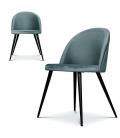 Chaise Ingrid bleu artic - Lot de 2 -