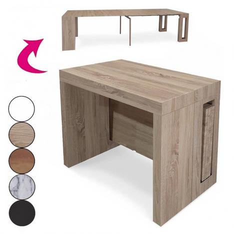 Console extensible bois 300cm avec rallonges intégrées Chavy - 3 coloris -