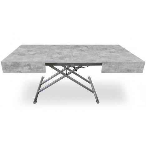 Table basse design laquée relevable et extensible Cassida -
