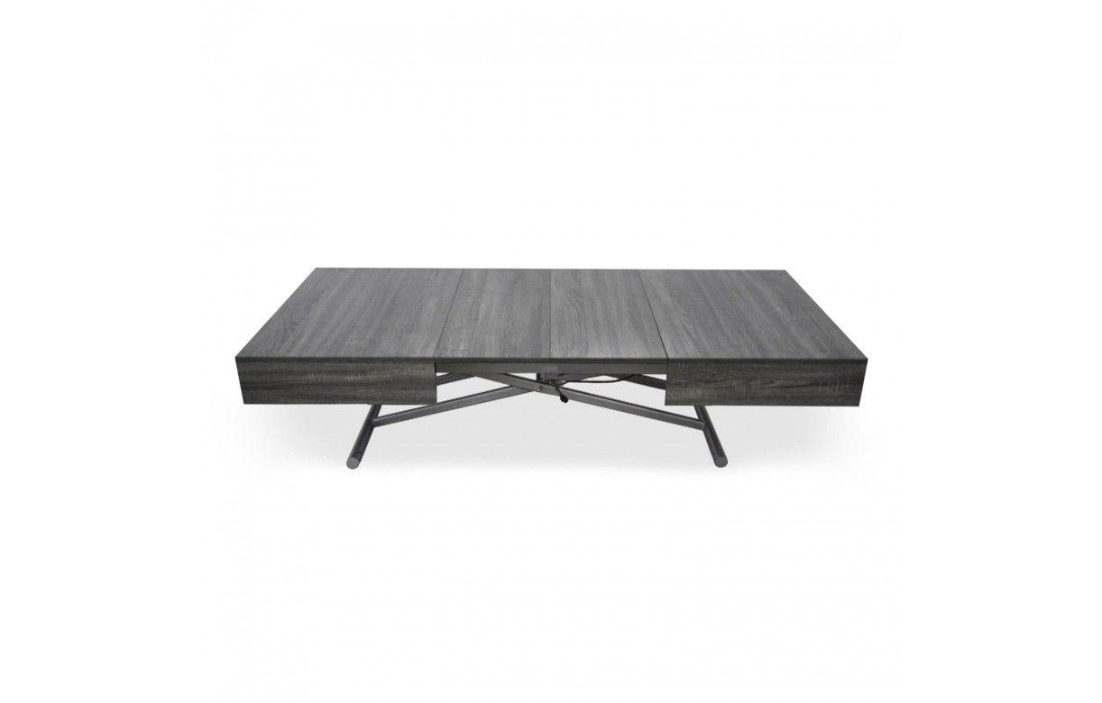 Table basse relevable extensible 6cm 6 personnes