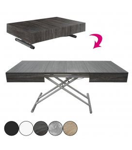 Table basse design relevable et extensible Cassida - 5 coloris