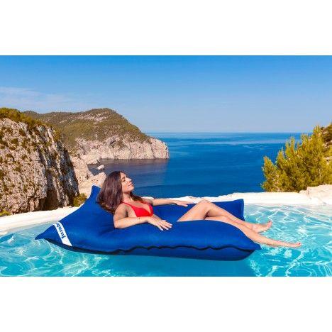 Pouf géant extérieur Jumbo Bag flottant pour piscine Swimming Bag - 4 coloris -