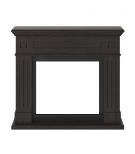 Cadre de cheminée bois marron wengé