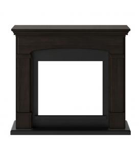 Cadre pour cheminée électrique TAGU bois foncé