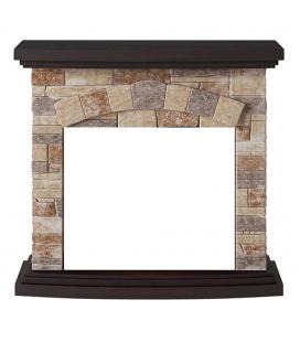 Cadre cheminée électrique fausses pierres briques