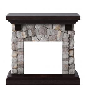 Cadre pour cheminée style pierres anciennes