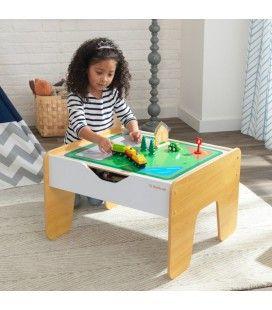 Table d'activité enfant 2 en 1 plateau Brio et Lego