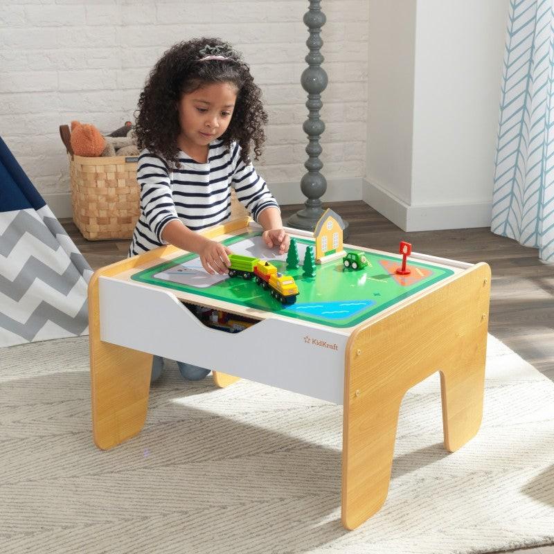 Table d'activité enfant 2 en 1 plateau Brio et Lego Decome