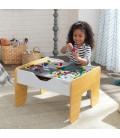 Table d'activité enfant 2 en 1 plateau Brio et Lego -