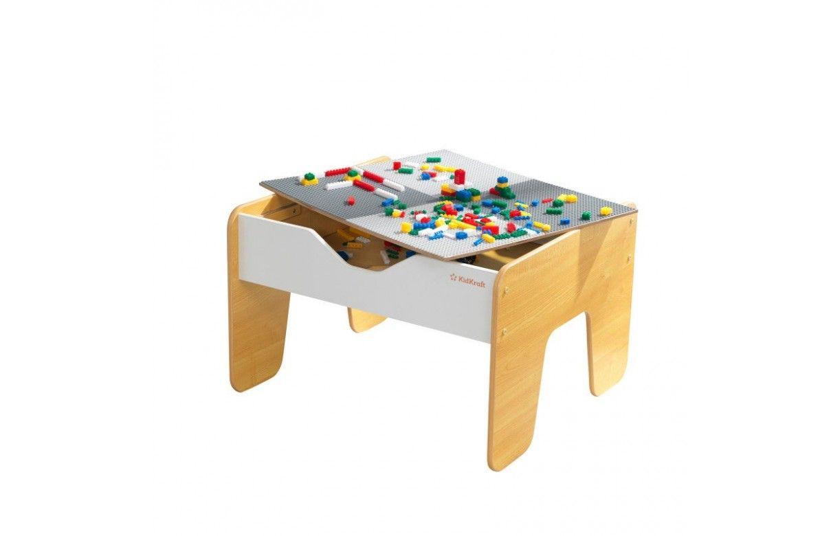 Table Basse Lego Geant table d'activité enfant 2 en 1 plateau brio et lego - decome