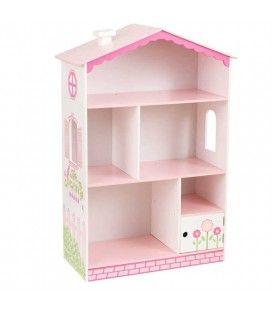 Bibliothèque rose petite famille maison poupée -