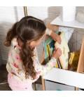 Meuble rangement enfant bois étagère et boîtes -