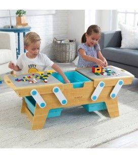Table d'activité LEGO avec rangements intégrés -