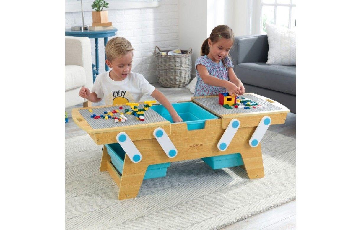Table Basse Lego Geant table d'activité lego avec rangements intégrés - decome store