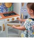 Cuisine pour enfants grise avec frigo magnetique et aimants -