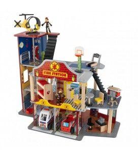 Jouet caserne pompiers complète 27 pièces