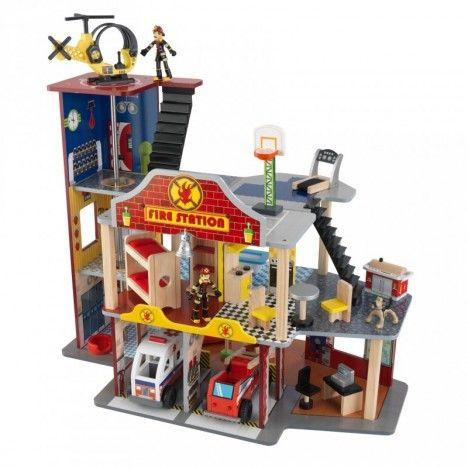 Jouet caserne pompiers complète 27 pièces -