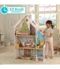 Maison de poupée grande pour enfant assemblage facile -
