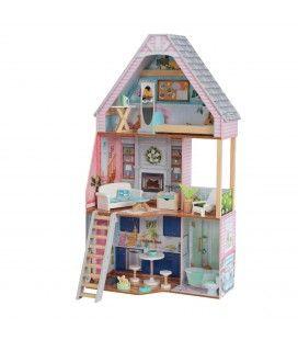 Maison de poupée 115cm 3 étages et accessoires Matilda -