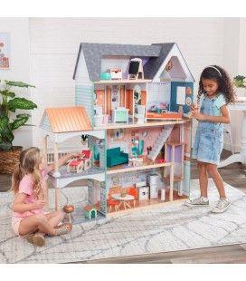 Très grande maison de poupées coplète 7 pièces 125cm -