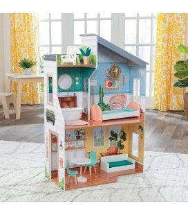 Maison de poupées complète avec tous accessoires 3 étages -