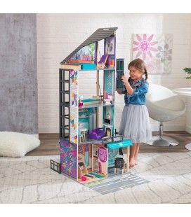 Maison de poupées Kidkraft Loft 3 étages en ville -