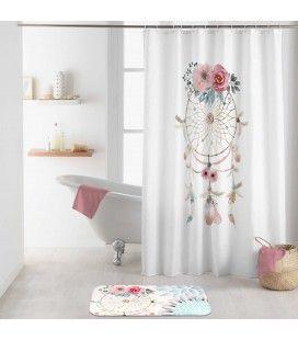Rideau douche Crochets 180 x 200 cm Oiti attrape-rêves -