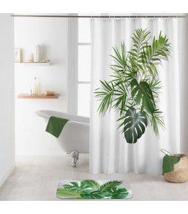 Rideau douche Crochets 180 x 200 cm Amazonica feuilles de palmier -