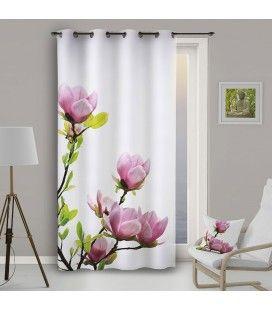 Rideau Oeillets 140 x 260 cm Floral -