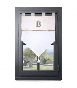 Rideau brise bise 60 x 90 cm Béline bonheur romantique -