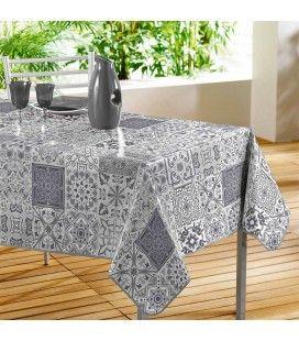 Nappe toile cirée rectangle 140 x 240 cm Persane mosaïque -
