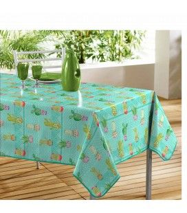 Nappe rectangle Little cactus 140 x 240 cm PVC -