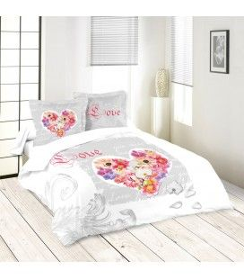 Housse de couette 240 x 260 cm + taies You miss me -