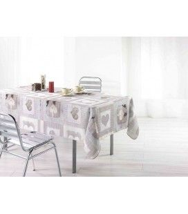 Nappe anti-tache rectangle 150 x 240 cm Cosy coeur -