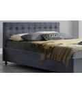Lit double en lin avec caisson et tête de lit intégrés DIVA - 4 coloris
