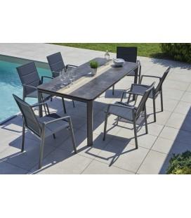 Table de jardin haut de gamme 6 places Carmel