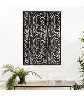 Décoration murale rectangulaire 68x100cm métal noir CALI