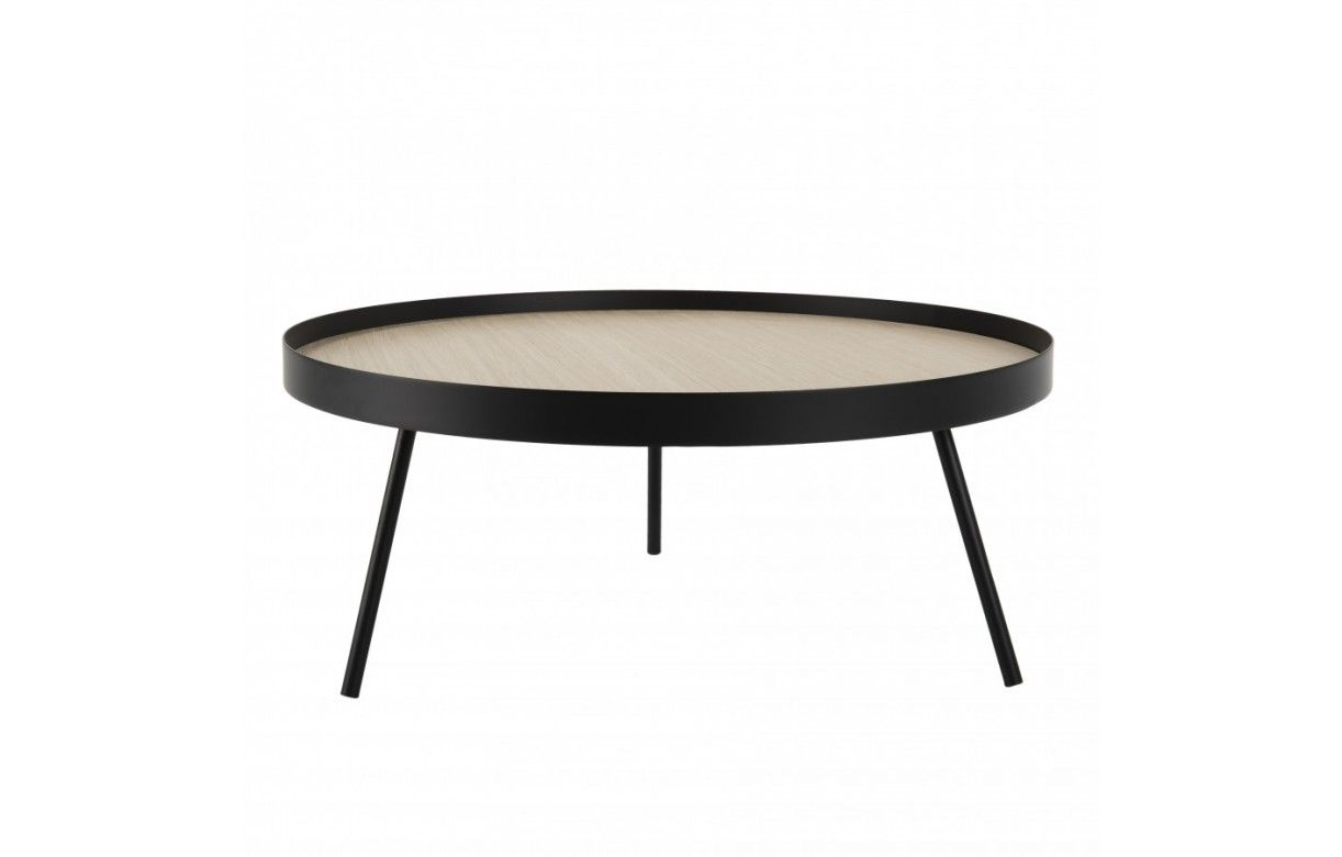 Table Basse Ronde 85x85cm Pieds Metal Cali Decome Store