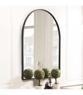 Miroir forme arc métal noir CALI