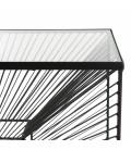 Console métal noir plateau verre CALI