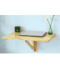 Table murale pliable bureau rabattable 60x40cm blanc Worky