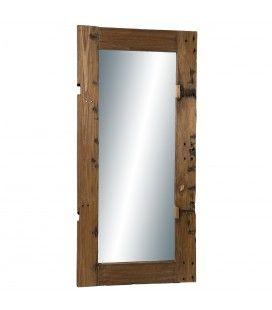Miroir rectangulaire 80x170cm bois recyclé - esprit Brocante CABIMA