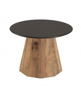 Table d'appoint ronde bois Pin recyclé et contreplaqué PACORA