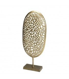 Décoration sculpture aluminium doré DODOMA