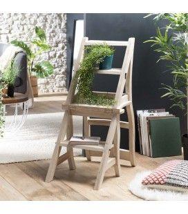 Chaise libraire escabeau étagère décoratif gamme INES