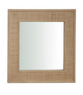 Miroir carré en rotin Roro 60cm -
