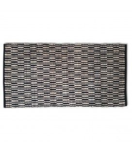 Tapis style berbère Tamatave noir l.70xL.140cm -
